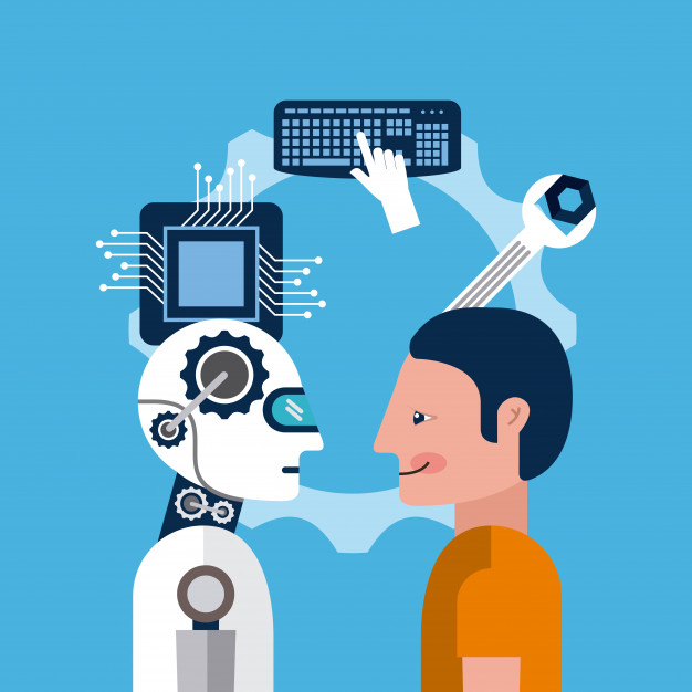 Uomo e robot a confronto